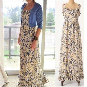 Anthropologie Moulinette Size 10 Silk Maxi Dress